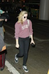 Chloe Moretz - at LAX Airport, February 2015