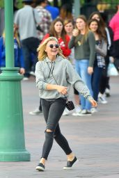 Chloe Moretz - Visited Disneyland in Anaheim, February 2015