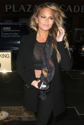 Chrissy Teigen - Arriving at NBC Studios in New York City, Feb. 2015