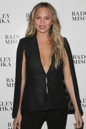 Chrissy Teigen - Badgley Mischka Fashion Show in New York City, February 2015