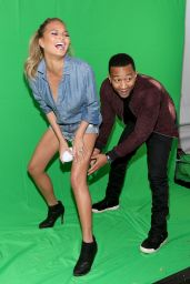 Chrissy Teigen - DIRECTV Super Fan Tailgate in Glendale - February 2015