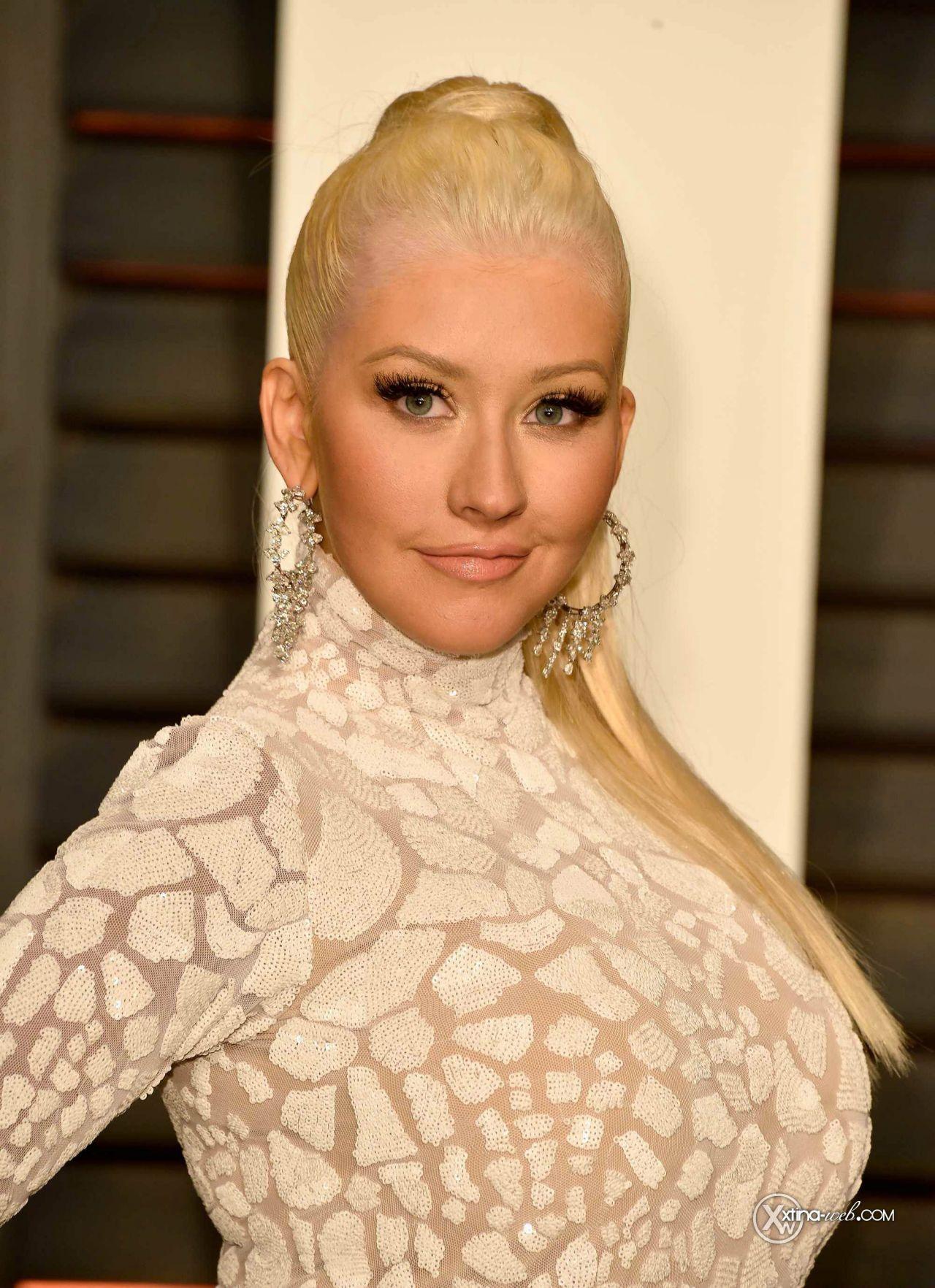 Christina Aguilera 2015 Vanity Fair Oscar Party