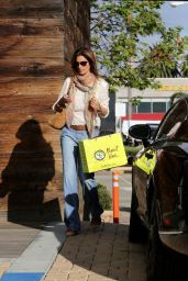 Cindy Crawford Street Style - Shopping in Malibu, February 2015