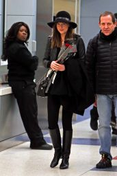 Dakota Johnson at JFK Airport, February 2015