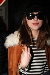 Dakota Johnson - Berlin Tegel Airport in Berlin, February 2015