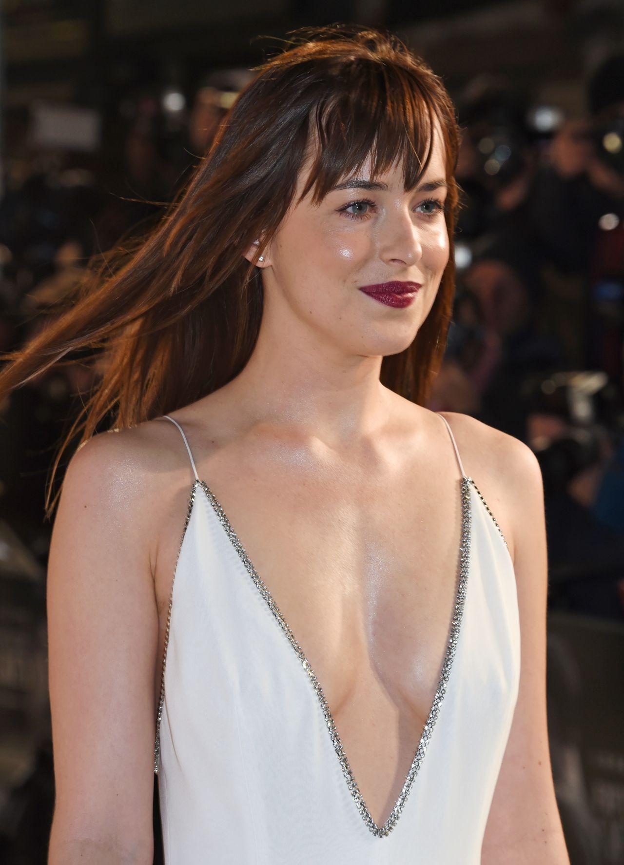 Dakota Johnson Fifty Shades Of Grey Premiere In London