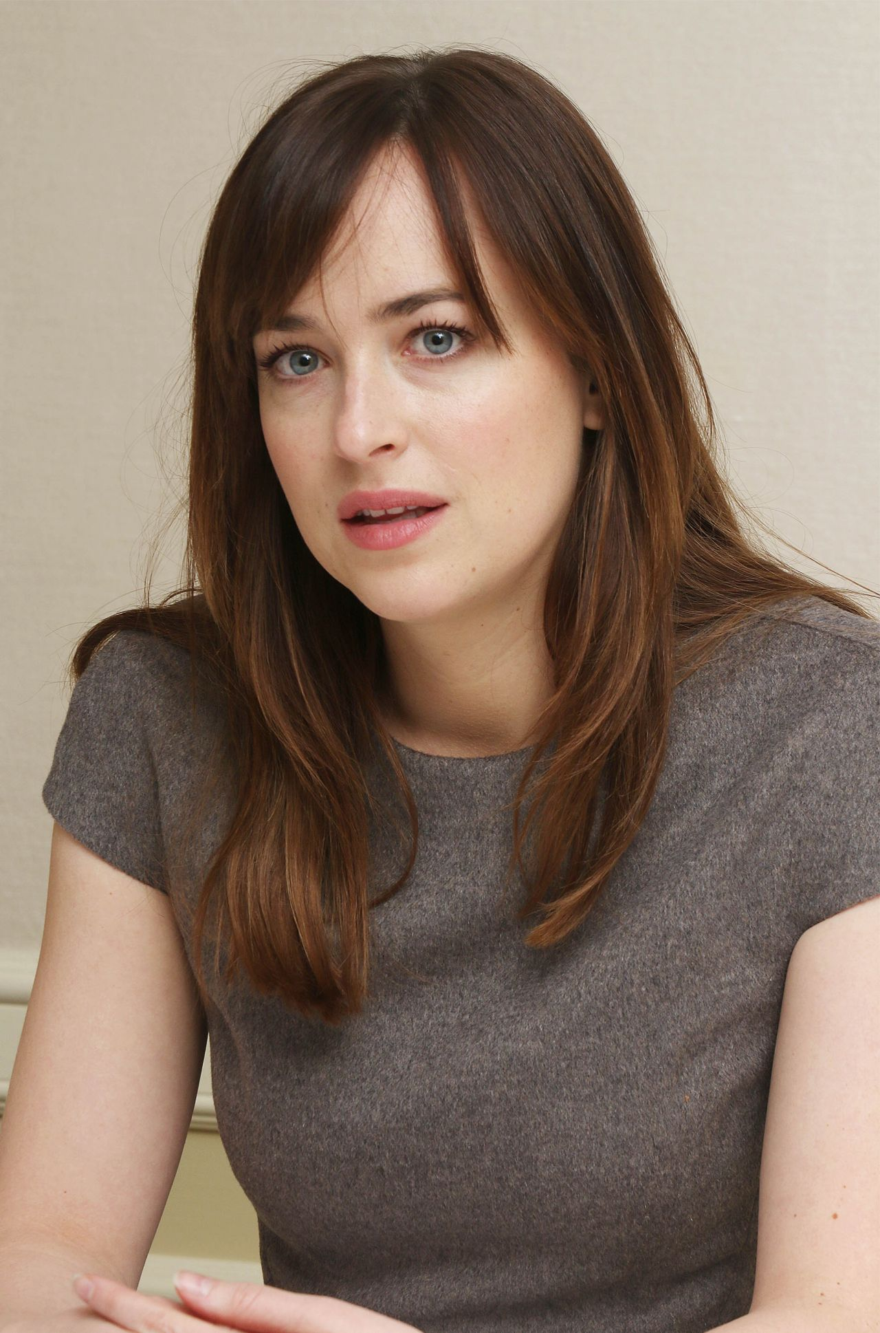 Dakota Johnson Fifty Shades Of Grey Press Conference