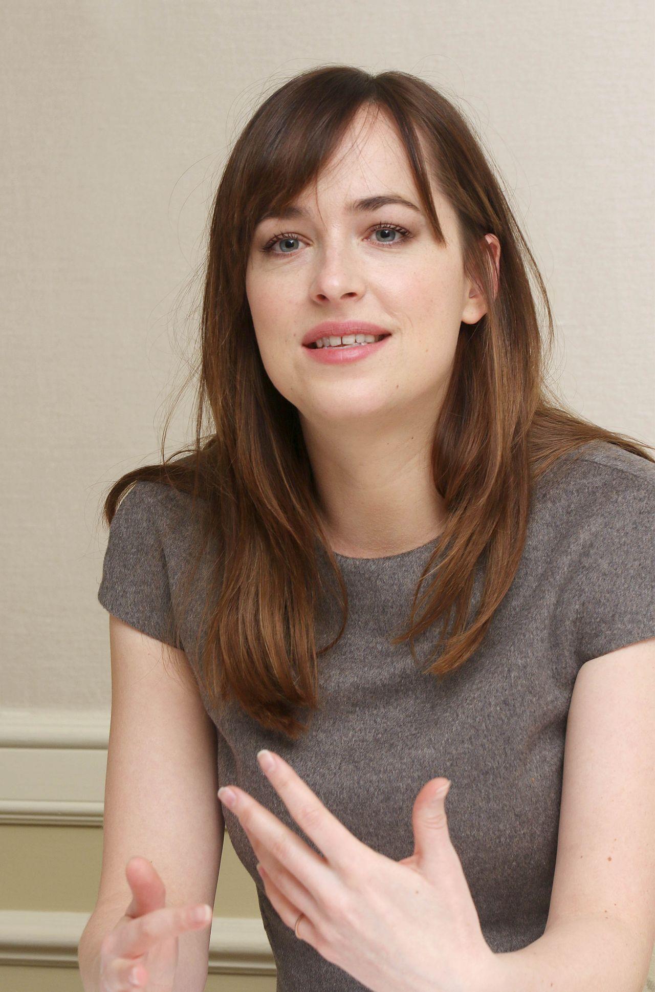 Dakota Johnson Fifty Shades Of Grey Press Conference