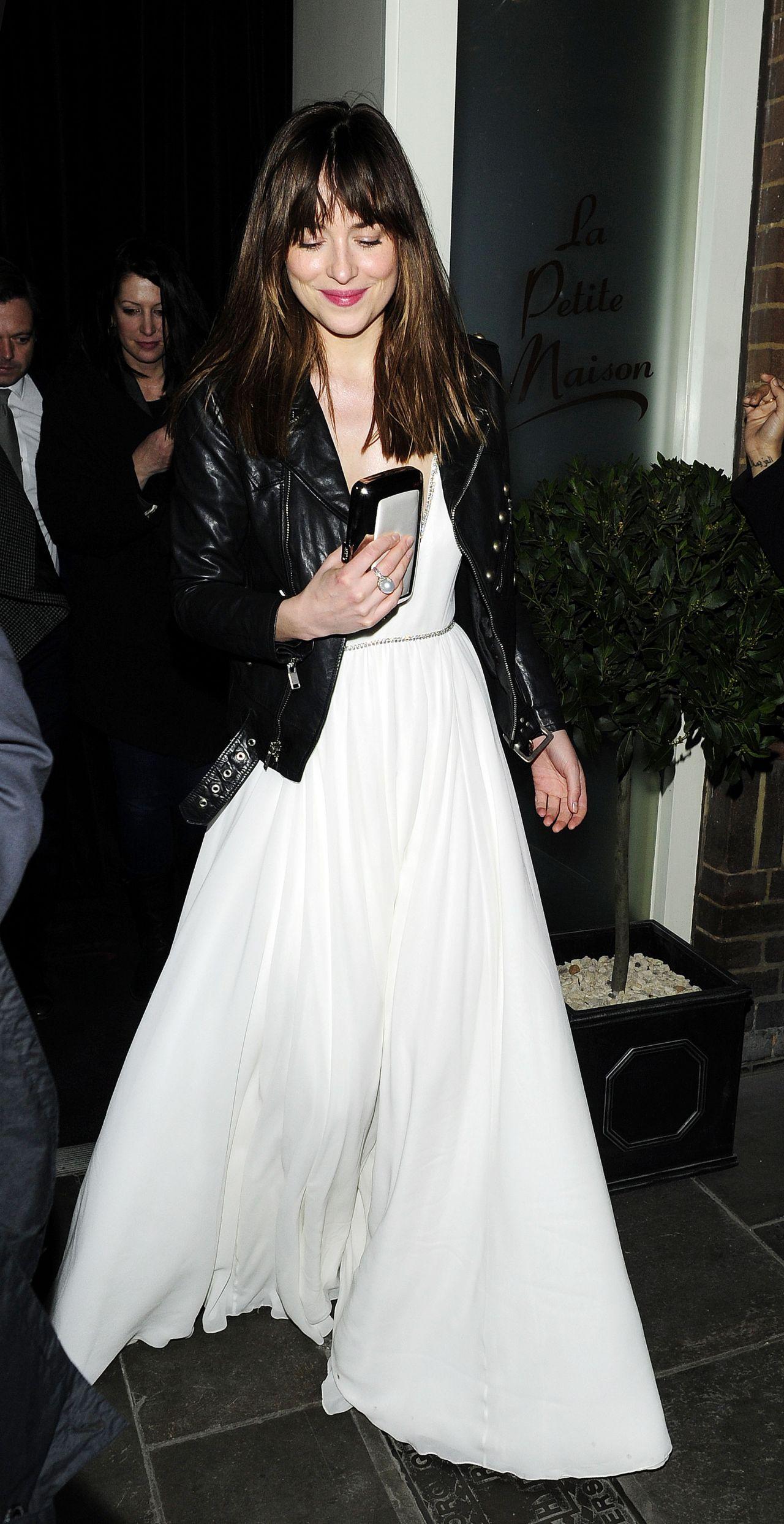 Dakota Johnson Leaving The Fifty Shades Of Grey