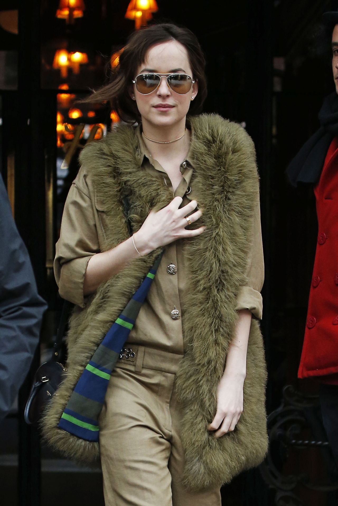 Dakota Johnson Style - Leaving the Bowery Hotel in New York City, Feb. 2015