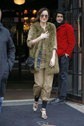 Dakota Johnson Style - Leaving the Bowery Hotel in New York City, Feb. 2015