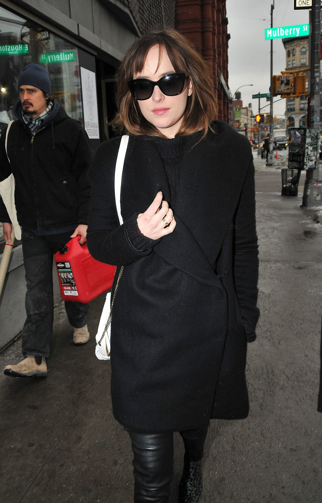 Dakota Johnson Style - Out in New York City, February 2015
