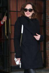 Dakota Johnson Style - Out in New York City, February 2015
