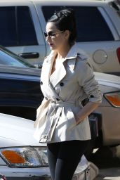 Dita Von Teese Style - Leaves a Pilates Studio in Los Angeles, Feb 2015