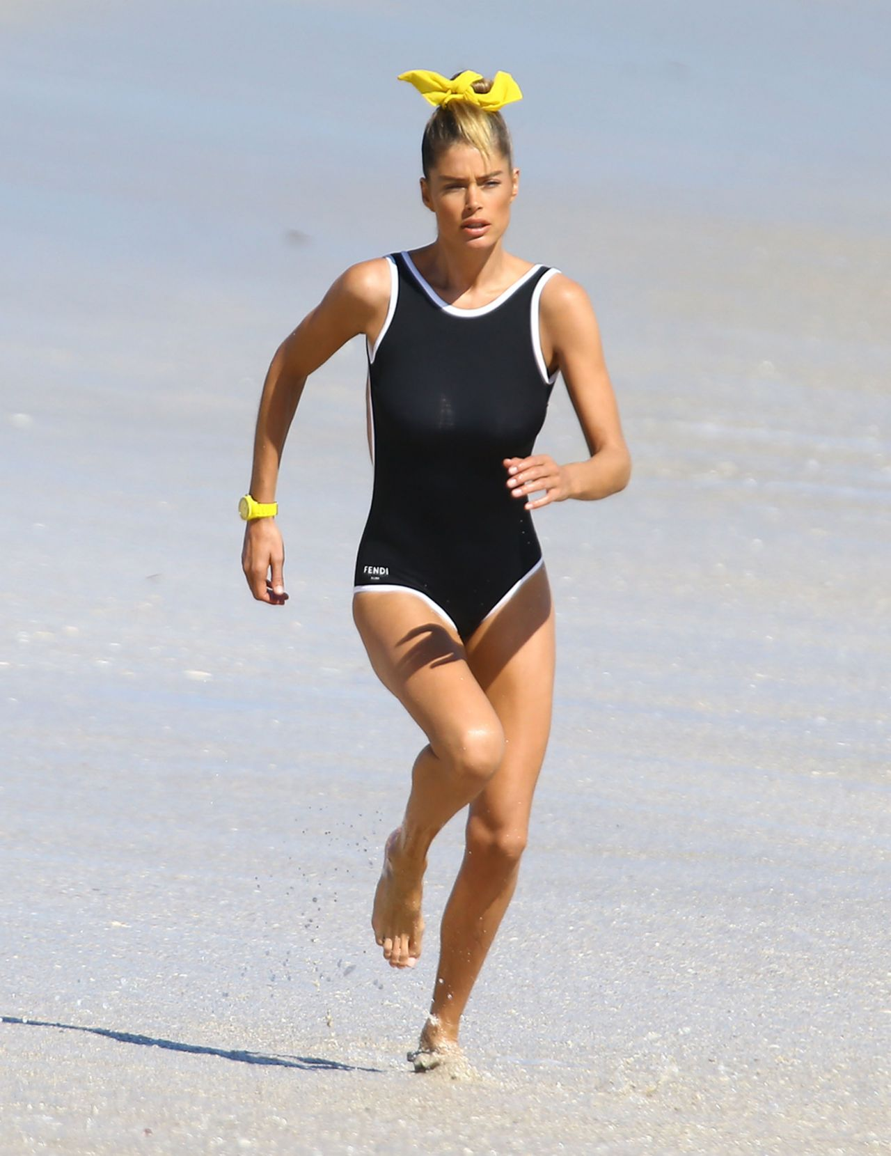 Doutzen Kroes in a Swimsuit - Photoshoot in Miami, February 2015