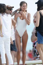 Doutzen Kroes Shows Off Bikini Body in Miami, February 2015