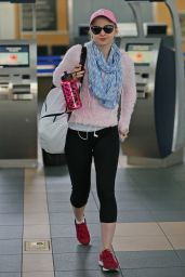 Dove Cameron Booty in Leggings - Vancouver Airport, February 2015