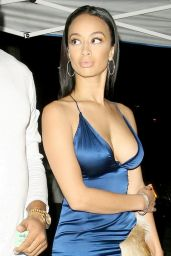 Draya Michele Night Out Style - Arriving at Mastro