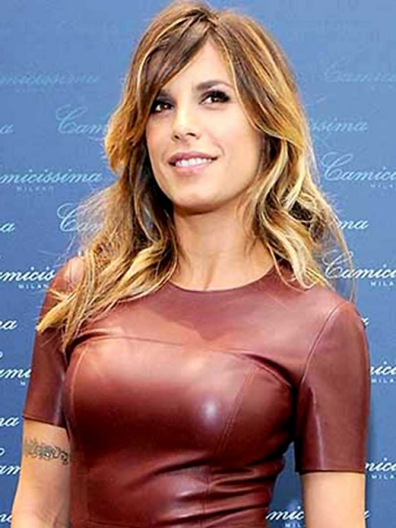 Elisabetta Canalis - Chesty In Tight Leather At Camicissima Opening  in Milan, Italy - Feb. 2015
