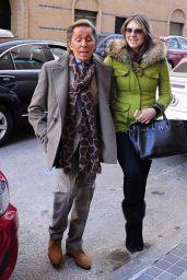 Elizabeth Hurley Street Style - Out in Madrid, Feb. 2015