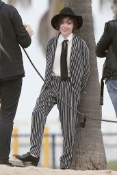 Ellen Page - Suits up for a Beach Photoshooot - Los Angeles, February 2015