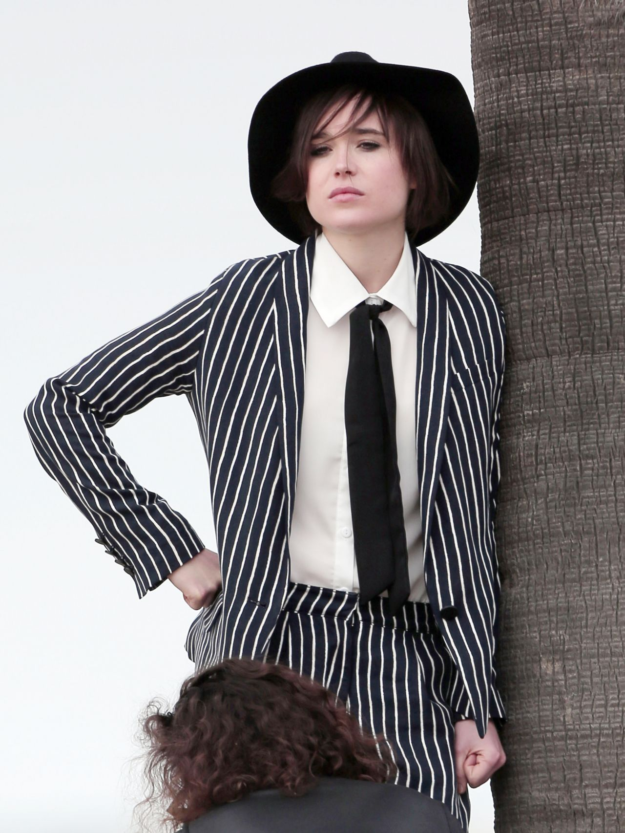 Ellen Page Suits Up For A Beach Photoshooot Los