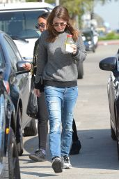 Ellen Pompeo in Ripped Jeans - Out in Los Angeles, Feb. 2015