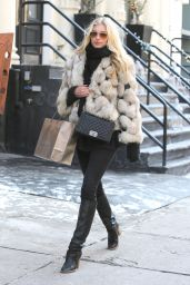 Elsa Hosk Style - Shopping in New York City, Febraury 2015