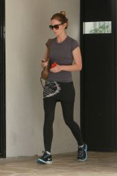 Emily Blunt - Leaving Rise Movement Gym in West Hollywood, February 2015