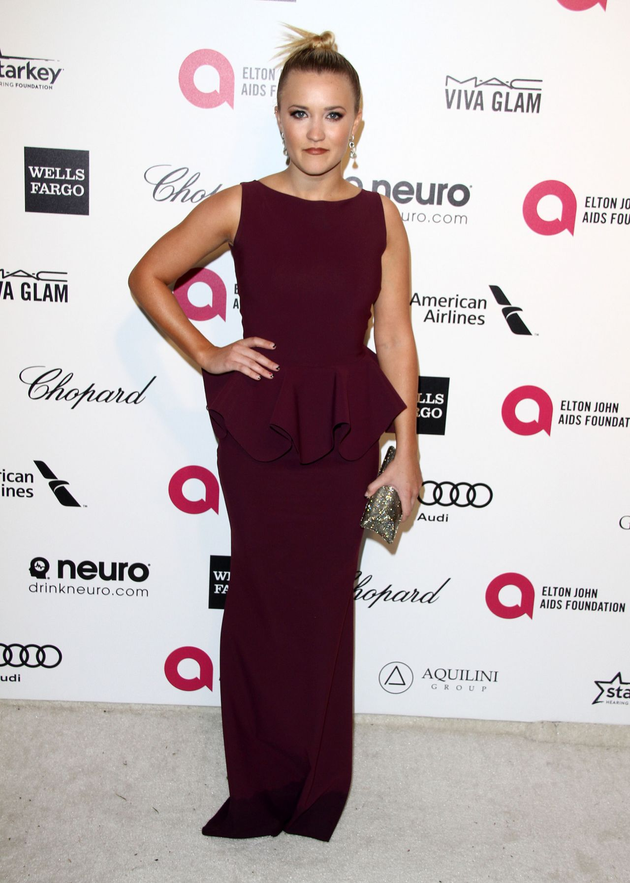 Emily Osment – 2015 Elton John AIDS Foundation's Oscar Viewing Party in Hollywood