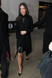 Emily Ratajkowski Street Style - at BBC Radio 1 Studios in London, Feb 2015