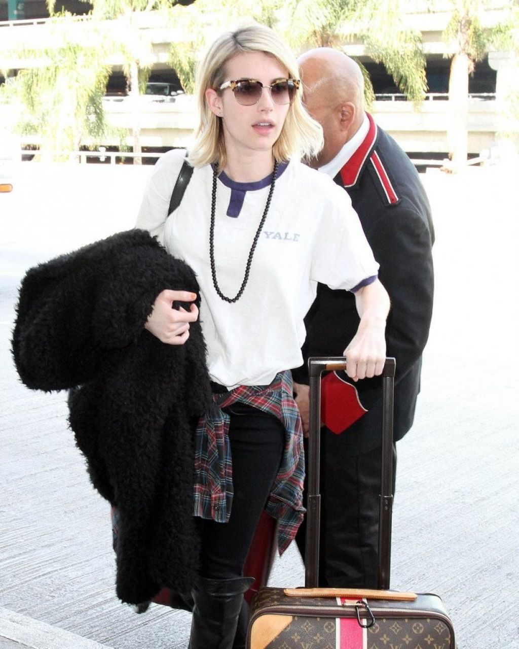 Emma Roberts - at LAX Airport, February 2015