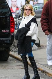 Emma Roberts Street Style - Out in New York City, February 2015