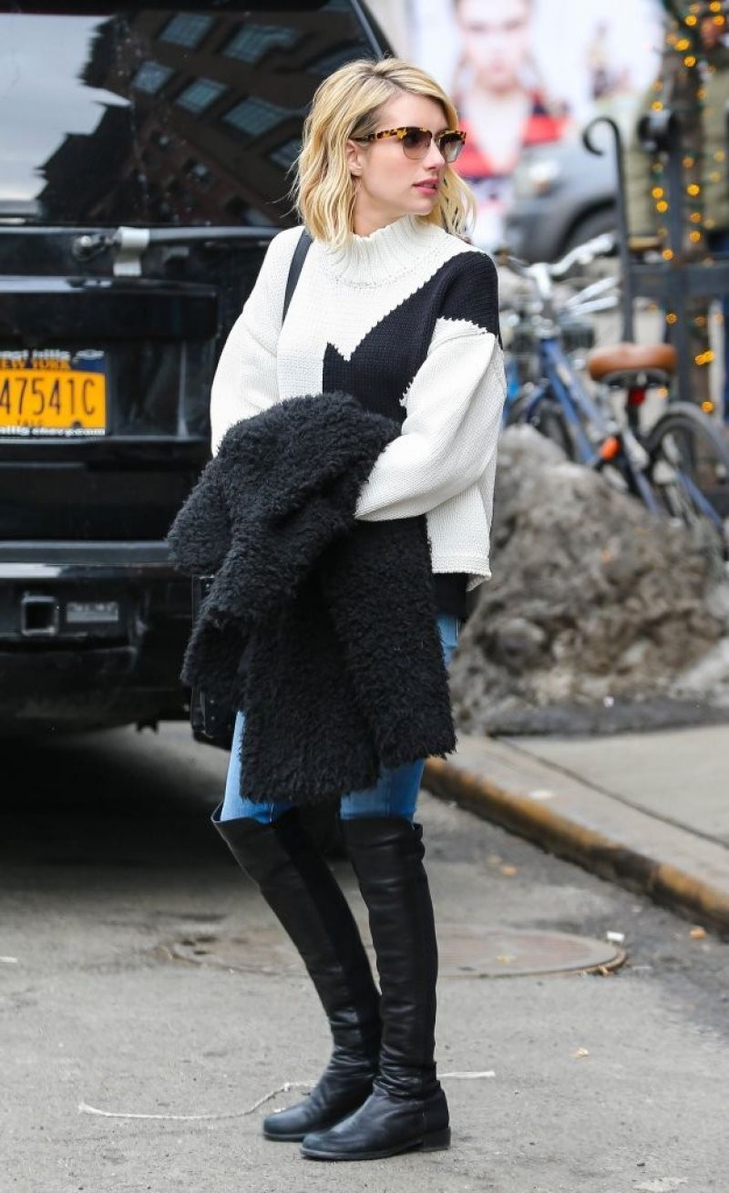 Emma Roberts Street Style Out In New York City February