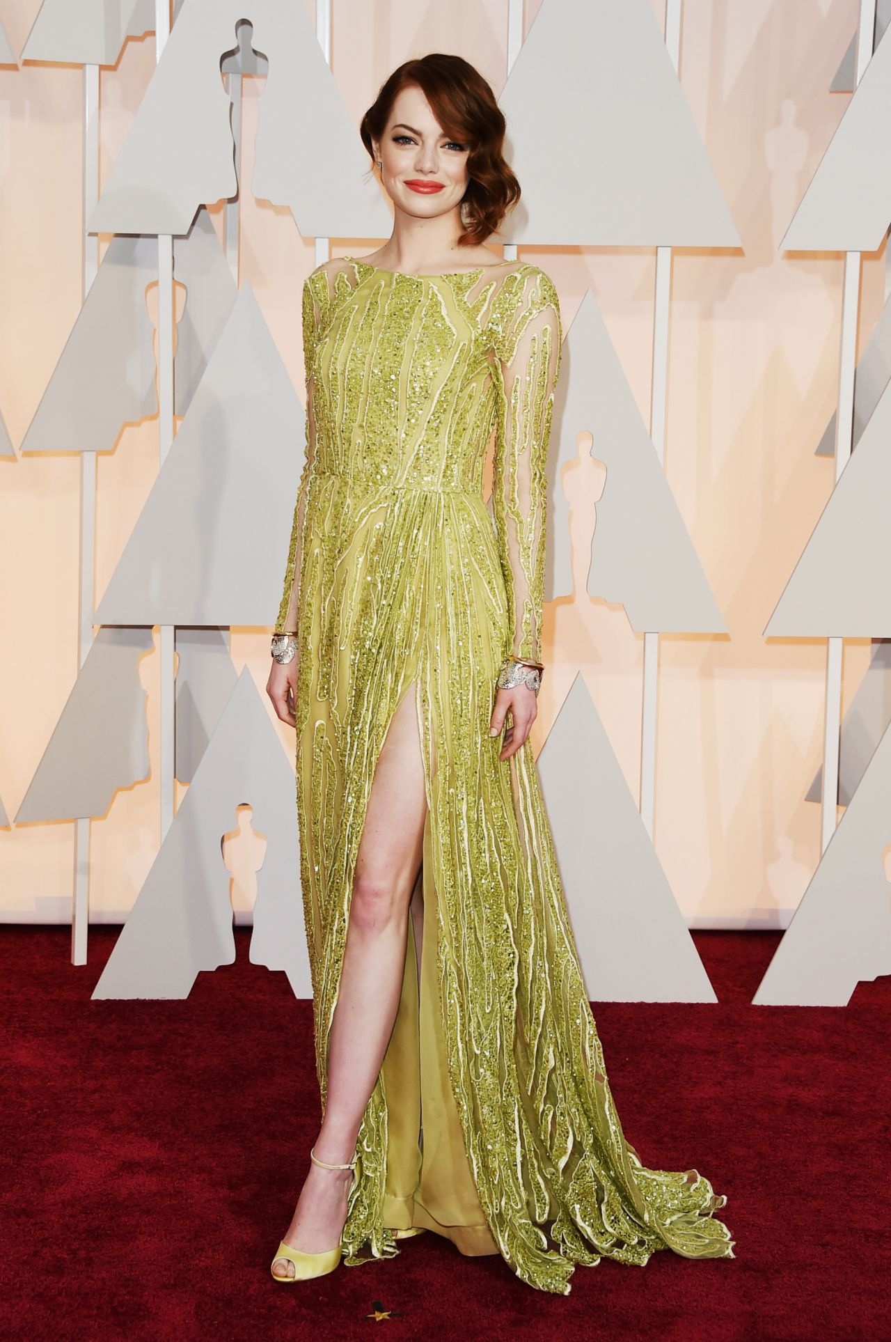 Emma Stone – 2015 Oscars Red Carpet in Hollywood