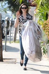 Emmy Rossum Casual Style - Out in Los Angeles, February 2015