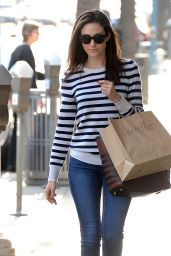 Emmy Rossum in Jeans - Out in Los Angeles, February 2015
