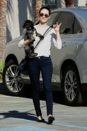 Emmy Rossum Street Style - Out in Los Angeles, Feb. 2015