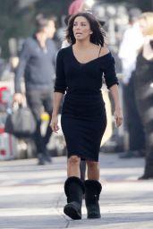 Eva Longoria Casual Style - Filming in Malibu, February 2015