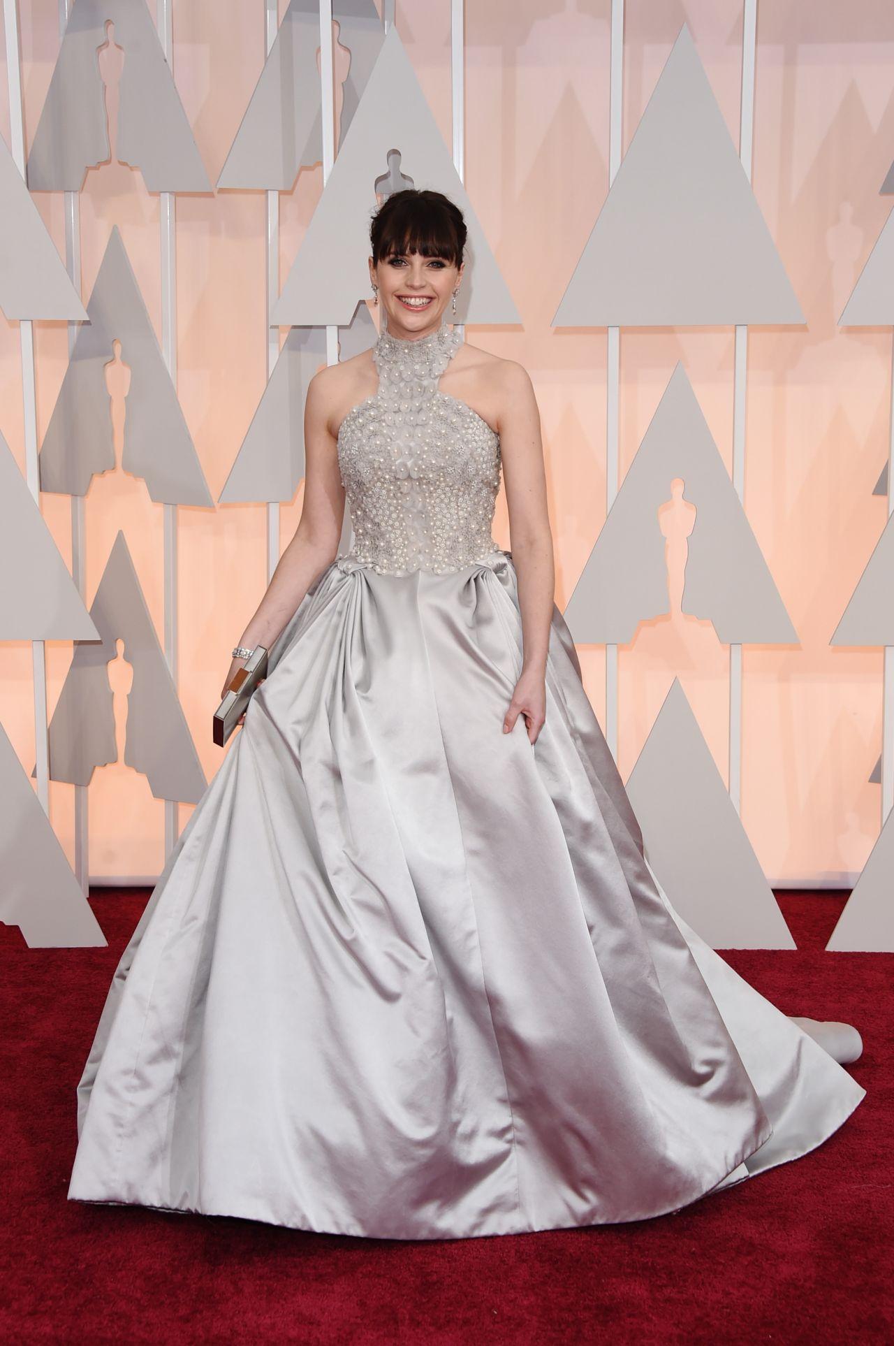 Felicity Jones – 2015 Oscars Red Carpet in Hollywood
