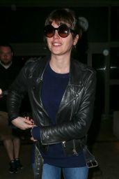 Felicity Jones - at LAX airport in Los Angeles, Feb. 2015