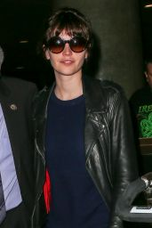 Felicity Jones - at LAX airport in Los Angeles, Feb. 2015