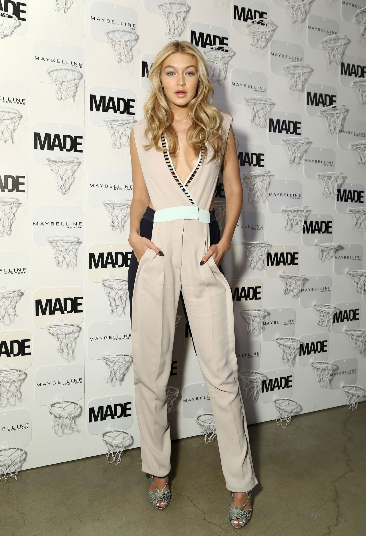 Gigi hadid made x maybelline ny tip off party in new york city feb