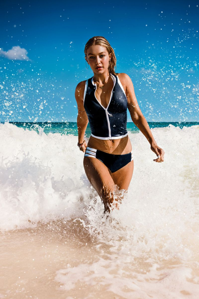 Gigi Hadid - Seafolly Swimwear Pics - February 2015