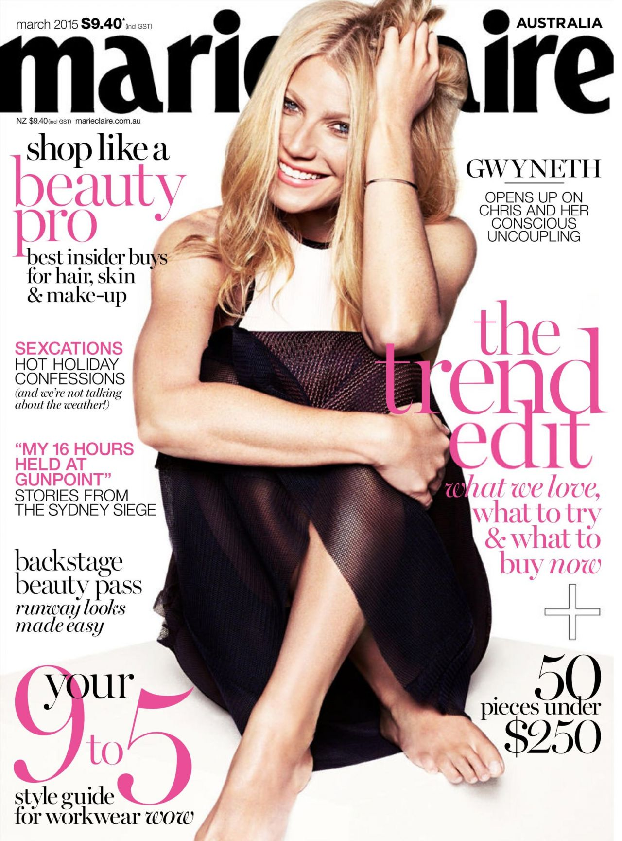 gwyneth paltrow marie claire magazine february 2015 issue. Black Bedroom Furniture Sets. Home Design Ideas