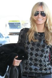 Heidi Klum Casual Style - LAX Airport in Los Angeles, February 2015