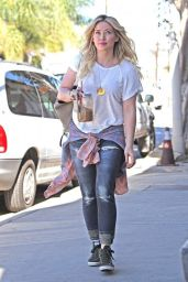 Hilary Duff Casual Style - Going to a Recording Studio in Los Angeles, Feb. 2015