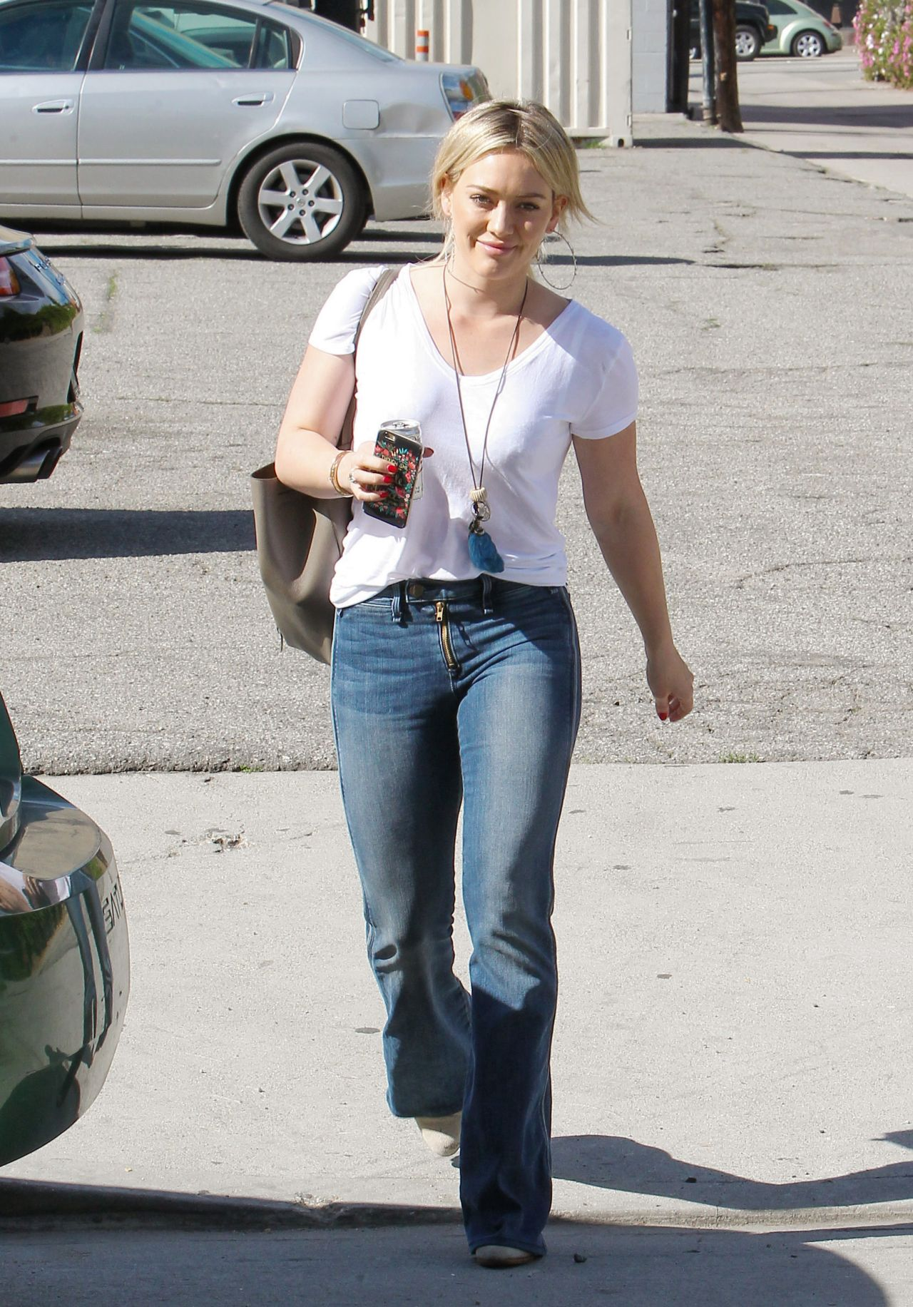Hilary Duff In Jeans Out In Los Angeles February 2015