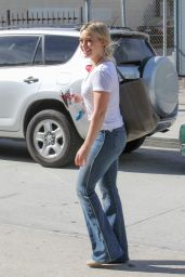 Hilary Duff in Jeans - Out in Los Angeles, February 2015