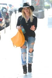 Hilary Duff in Ripped Jeans - Out In West Hollywood, February 2015